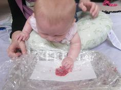 Crafts for babies... the pictured baby is only 3 months old!  Really neat. Starting these tomorrow!