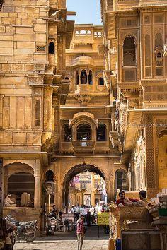 just-wanna-travel: Jaisalmer India Andres Zenteno Airport Architecture, India Architecture, Ancient Architecture, Gothic Architecture, Jaisalmer, Goa India, Varanasi, Places To Travel, Places To Visit