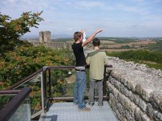 Teenagers Lovin' Tuscany: Even my teenage son, Scottie, and his friend, Dylan, LOVED the views from the walls of Monteriggioni. #travel #italy #tuscany #family