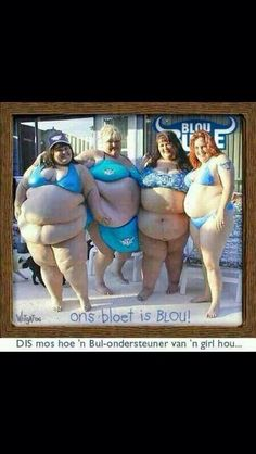 Rugby Blou Bulle (Blue Bulls) fans Weird Pictures, Fat Women, Sports Humor, Rugby, Jokes, Lady, Afrikaans, Blue, Husky Jokes