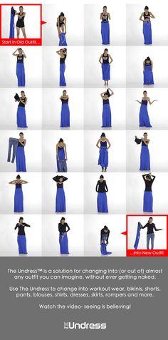 วิธีใช้ เสื้อคลุมสำหรับเปลี่ยนเสื้อผ้า
