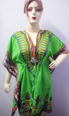 indian made designer rayon fabric caftan by handicraftofpinkcity, $5.99
