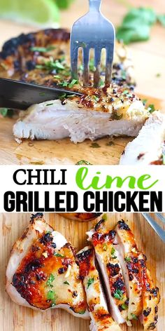 Chili Lime Grilled Chicken - moist and delicious chicken marinated in chili and lime and grilled to golden perfection in this easy recipe that takes 30 mins Chili Lime Chicken, Lime Chicken Recipes, Chicken Recipes Video, Lime Recipes, Healthy Chicken Recipes, Bbq Recipes Video, Kraft Recipes, Easy Recipes, Healthy Grilling