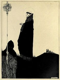 harry clarke, from the year's at the spring; an anthology of recent poetry (1920) b-w / a journey round my skull