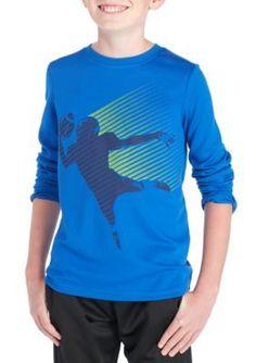 Zelos Long Sleeve Graphic Tee Boys 8-20 - Blue - Xl