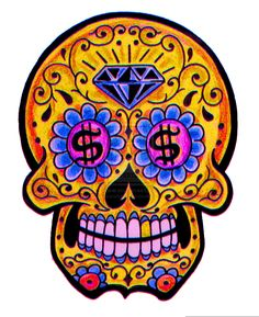 Sugar skull art by thaneeya mcardle: fun, colorful, highly-detailed skulls inspired by mexico's holiday day of the dead (dia de los muertos). Description from mesothelialcells.us. I searched for this on bing.com/images