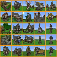 minecraft medieval village simple - Google Search