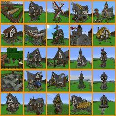 minecraft medieval village simple - Google Search