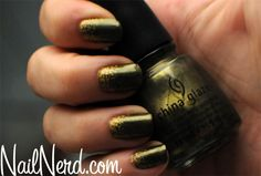 Olive-gold nails - I actually have this exact colour and brand somewhere at home!