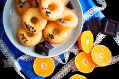 Baked oringe donuts with chocolate – Jezte sláskou