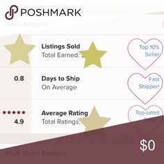 🎉🌟My Posh Stats🌟🎉 I'm a Top 10% Seller and Top Rated (5 🌟)!  Thank you for all your support! As always, reasonable offers are welcome but please no low ball offers or trades. All my items come from my closet or my daughter's and are 💯% authentic! Accessories