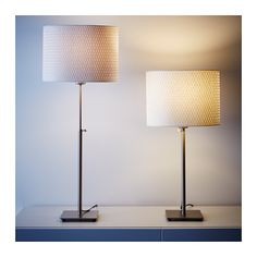 ALÄNG Table lamp with LED bulb, nickel plated, white