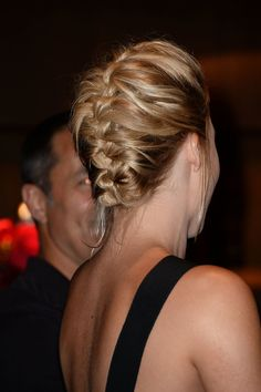 Even short-haired ladies can rock a French braid!