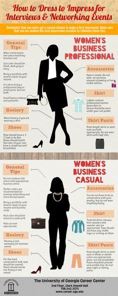 Professional Attire vs. Business Casual for women.