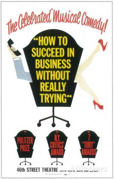 How to Succeed In Business Without Really Trying - Broadway Poster , 1961 Masterprint at AllPosters.com