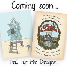coming soon to Tea For Designs, Greetings cards… https://www.etsy.com/uk/shop/TeaForMeDesigns  Also follow me on instagram @kirstywilletteillustration to keep up to date  with all the creative bits and pieces...
