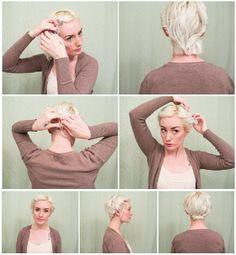 5 Updos for Short Hair: Easy Cropped Hair Tutorials | Latest-Hairstyles.com