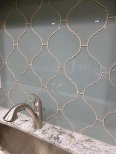 surf arabesque glass tile - Arabesque Tile Backsplash