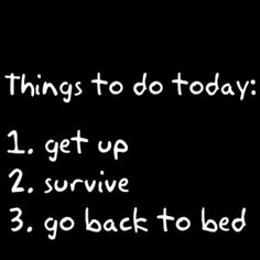 A daily routine!! And most days this is all that gets done