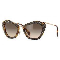d8f827f5e76a Miu Miu MU 04QS 7S03D0 Pink Sunglasses
