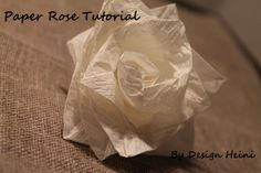Paper Rose Tutorial Rose Tutorial, Paper Roses, Diy Projects, Design, Handyman Projects, Handmade Crafts, Diy Crafts