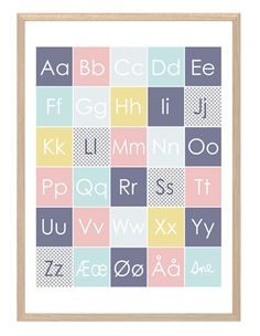 SneDesign Poster Happy Forest A-Ø Pastell NO/DK