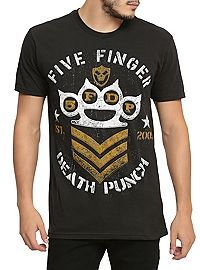 HOTTOPIC.COM - Five Finger Death Punch Military T-Shirt
