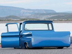 Visit The MACHINE Shop Café... ❤ Best of Trucks @ MACHINE ❤ (1963 Chevrolet C10 Rear View)