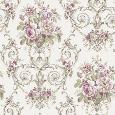 Shop for Victorian wall coverings at Steve's Blinds & Wallpaper. Browse a wide selection of wallpaper, borders and wall murals at discounted prices. Decoupage Vintage, Decoupage Paper, Vintage Paper, Victorian Wallpaper, Damask Wallpaper, Wall Wallpaper, Wallpaper Borders, Wallpaper Online, Motif Vintage