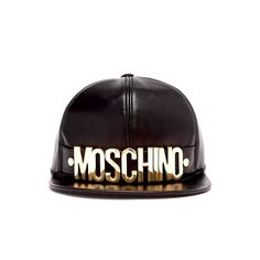 Moschino napa leather snapback hat  brand new condition  gold logo letters adorn the front brim  asking $320  comment for more information or to purchase this item