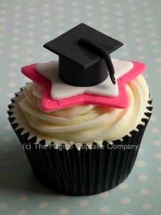 Graduation cupcakes - http://www.themagicalcupcakecompany.co.uk/cupcakes.html#