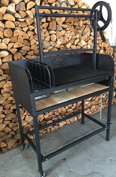 Argentine Grill with Side Brasero BM (NEW) It's an ultimate wood/charcoal burning grill pit for home and small catering business use. These Argentine barbecue grills feature heavy duty black steel construction, a side brasero(ember maker) to make embe Barbecue Grill, Grilling, Outdoor Barbeque, Argentina Grill, Asado Grill, Wood Charcoal, Best Charcoal Grill, Portable Fire Pits, Stainless Steel Grill