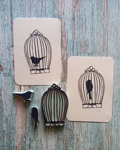 Birdcage   .  .  .  .  .  #rubberstampmaker #ręcznarobota #rubberstamp #bird #animalium #ptaki #stemplowanie #stempel #busymom #matkatrojki #instamatki #etsy #ooak #printed. #selfcut