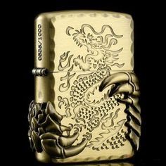 Japanese Brass Tribal Dragon Zippo Limited Edition