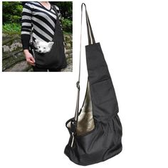 Large Black Oxford Cloth Sling Pet Dog Cat Carrier Bag - http://www.thepuppy.org/large-black-oxford-cloth-sling-pet-dog-cat-carrier-bag/