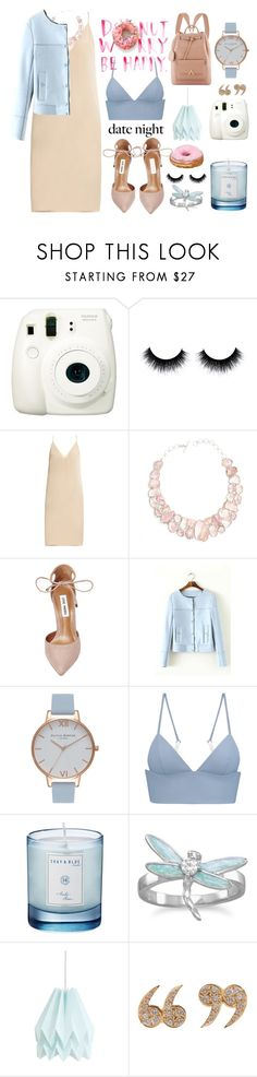 """Trouvaille"" by madpaudisease ❤ liked on Polyvore featuring Fuji, Raey, Poppy Jewellery, Steve Madden, Olivia Burton, T By Alexander Wang, Shay & Blue, BillyTheTree, Love Is and SkyBlue"