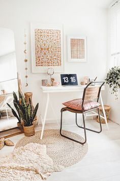 Flexa beautiful and simple! – Marit Andrea – rustic home interior Office Nook, Home Office Space, Home Office Design, Home Design, Office Inspo, Office Workspace, Design Design, Modern Office Decor, Home Office Decor