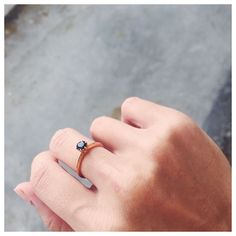 Deep Blue Sapphires and Rose Gold  Loving this shot of our Echo Sapphire Ring @anabel.chew   #LucyandMui #stackingrings #stackablerings #rings #sapphires