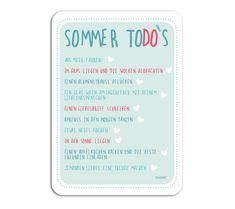 Sommer - 3x Postkarte Sommer ToDo Liste - ein Designerstück von millimi bei DaWanda