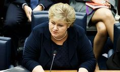 Erna Solberg was pictured playing Pokémon Go during a debate in the Storting.