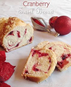 Cranberry-Swirl-Bread Recipe by Taking on Magazines using Taste of Home recipe----> http://www.tasteofhome.com/recipes/cranberry-swirl-loaf