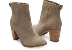A simple and elegant bootie, the Lunata is accented with pieced suede for a unique twist.