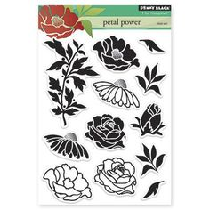 Penny Black Clear Stamps - Petal Power