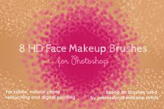 HD Face Makeup Photoshop Brushes by kjarriel on Creative Market