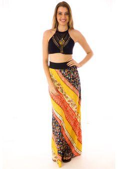 Lola Retro Sunset Skirt