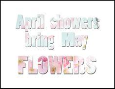 April showers free printable