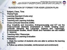 lesson-plan-format-kssr by Cynthia James via Slideshare