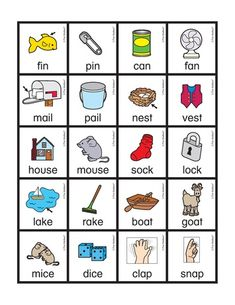 Free rhyming picture cards (with words! Print in color or in… Rhyming Worksheet, Rhyming Activities, Preschool Literacy, Kindergarten Fun, Preschool Worksheets, Literacy Centers, Rhyming Pictures, Site Words, Creative Curriculum