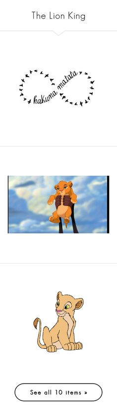 """""""The Lion King"""" by allyssister ❤ liked on Polyvore featuring disney, the lion king, blue, disney pics, characters, lion king, art, quotes, words and text"""