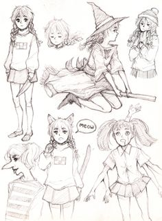 played yume nikki the other day so here's some quick doodles